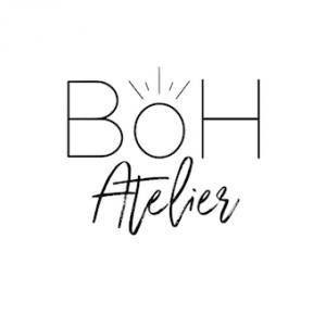 logo de la marque Boh Atelier, bijoux en plaqué or