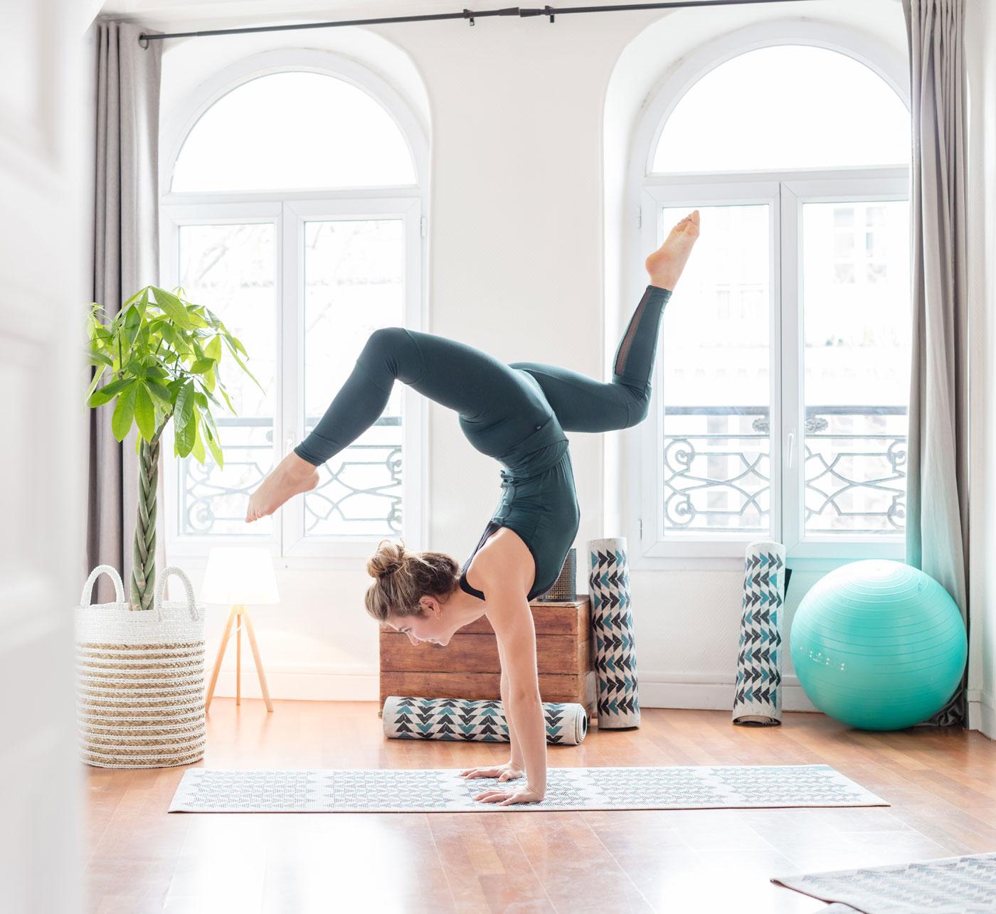 Legging de yoga en coton bio Oeko Tex