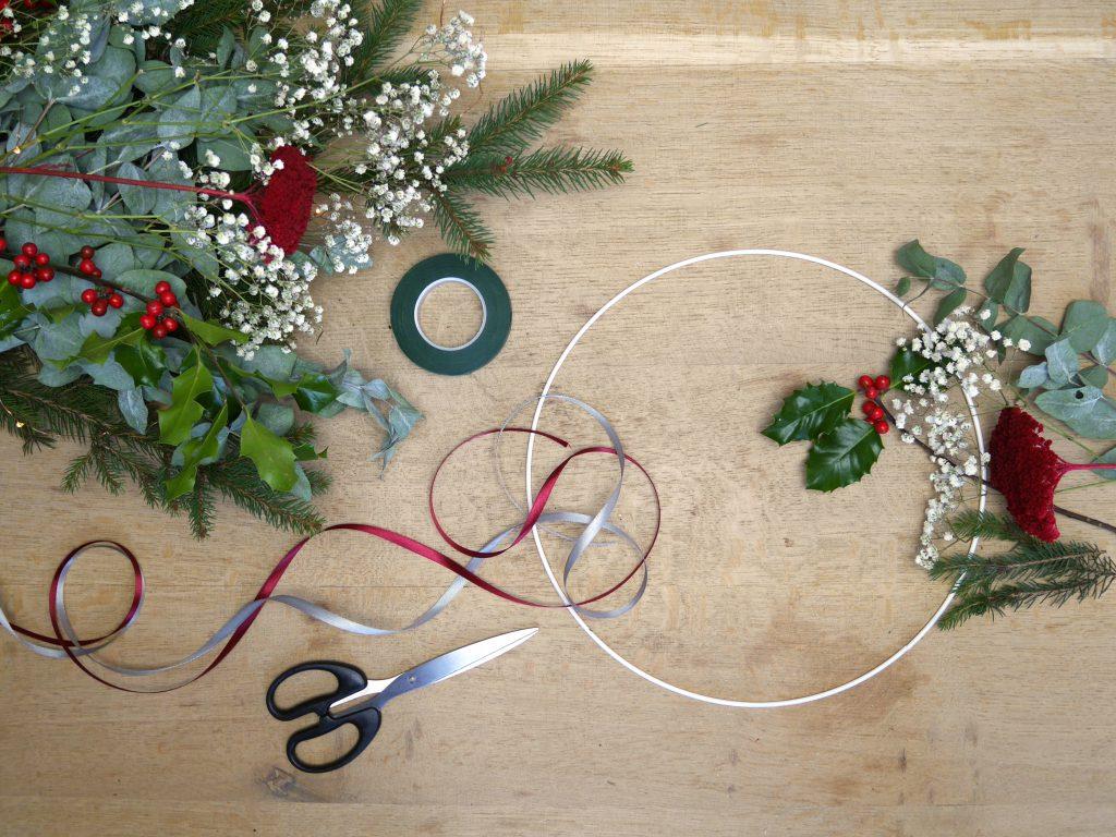 DIY : réaliser une couronne de noël végétale