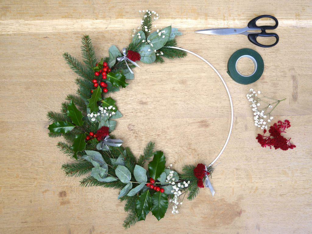Tuto : faire une couronne végétale pour Noël
