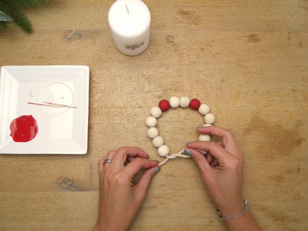 porte bougie en perle pour Noël